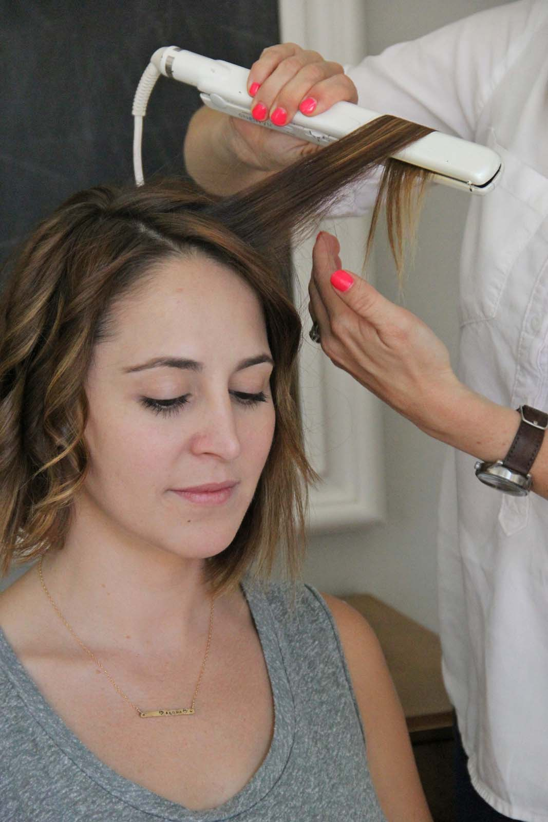 Как сделать локоны утюжком пошаговое на средние волосы самой