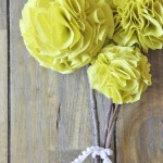 No Sew Fabric Pom Pom Flowers