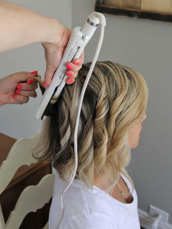 straightener curls