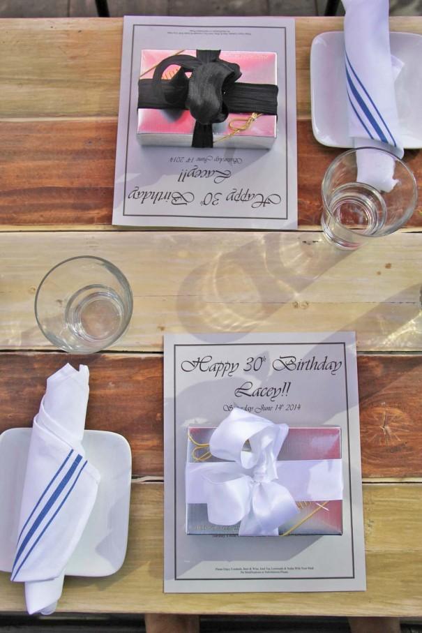 birthday menu