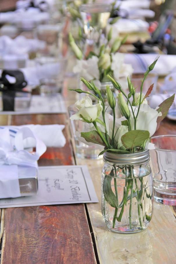 mason jar vase party