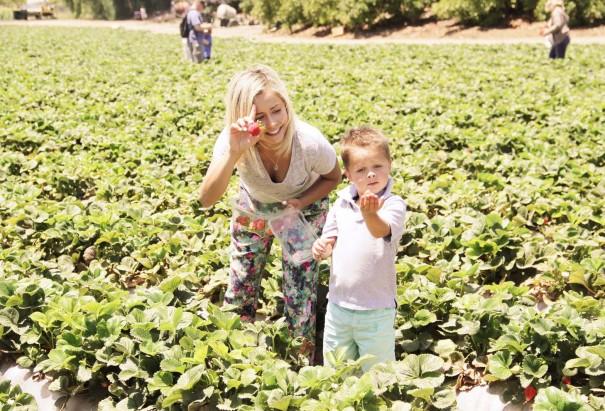 wes and mom farm