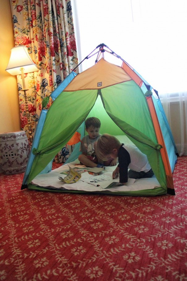 boys tent in room