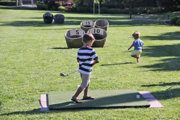 golfing activity lawn
