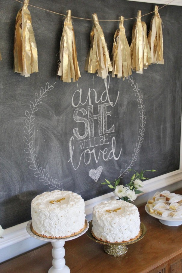 chalkboard baby shower