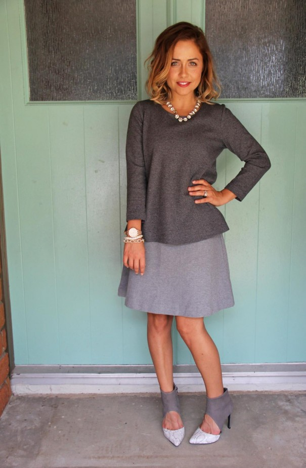 jjill ponte collection skirt and top petite