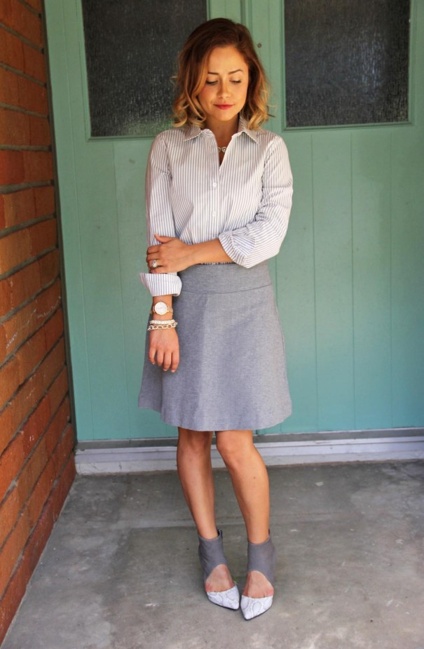 jjill ponte cotton skirt