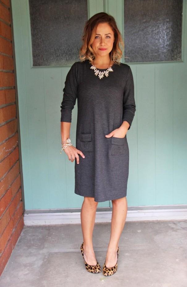 Ponte Gray Dress