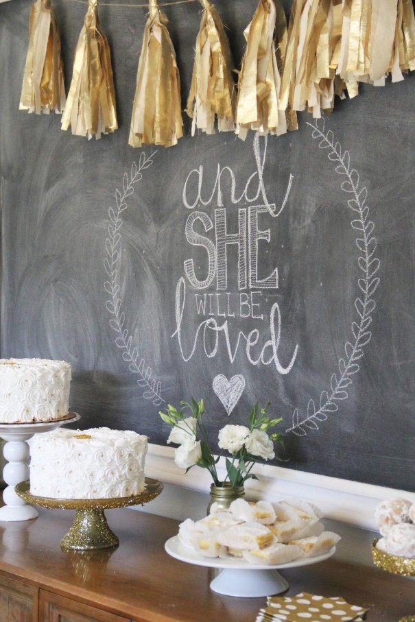 she will be loved chalkboard
