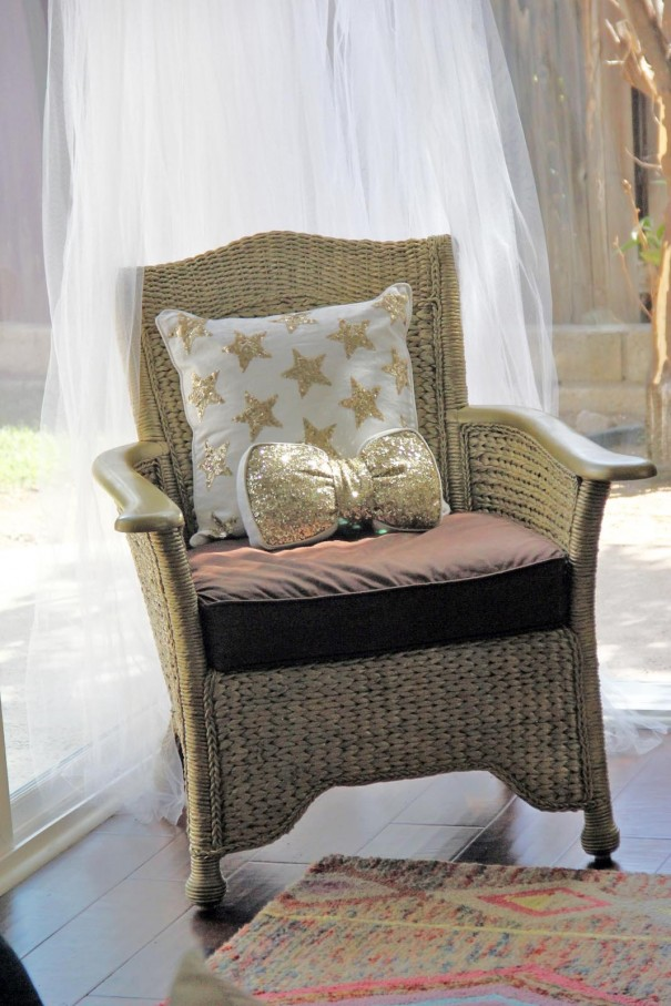the gold chair
