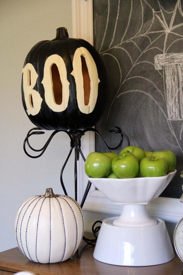 Boo Pumpkin painted