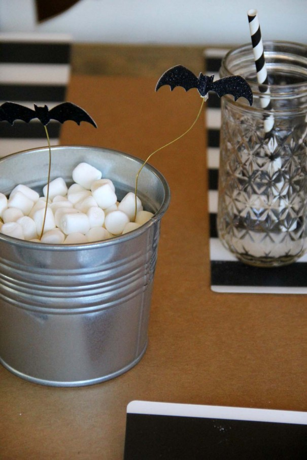 bats and marshmallow centerpieces