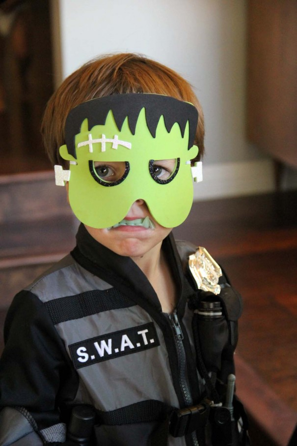 kids hallween masks foam