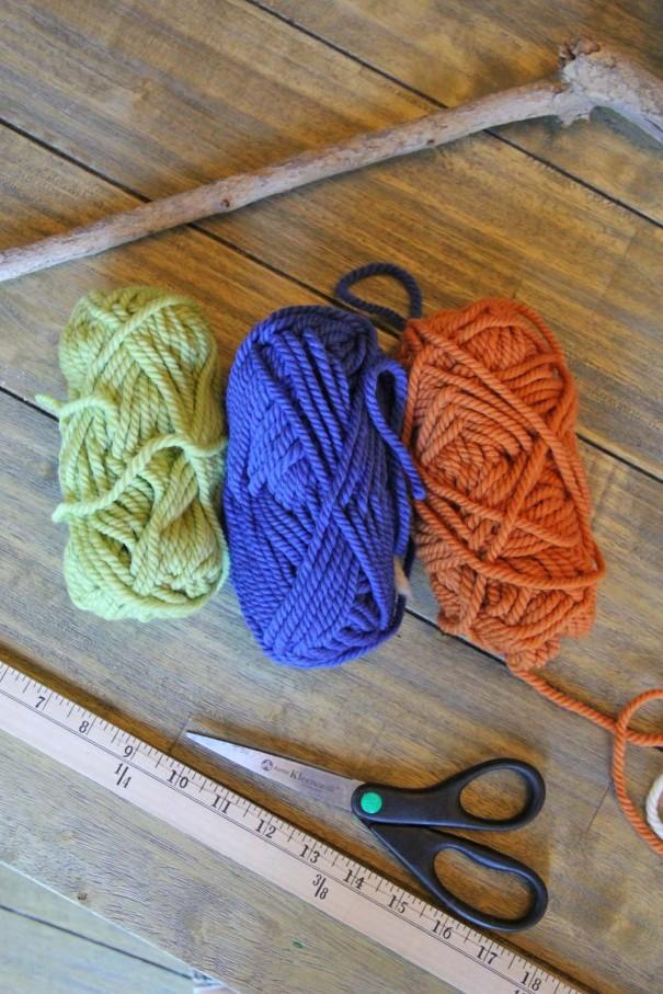 colored wool yarn