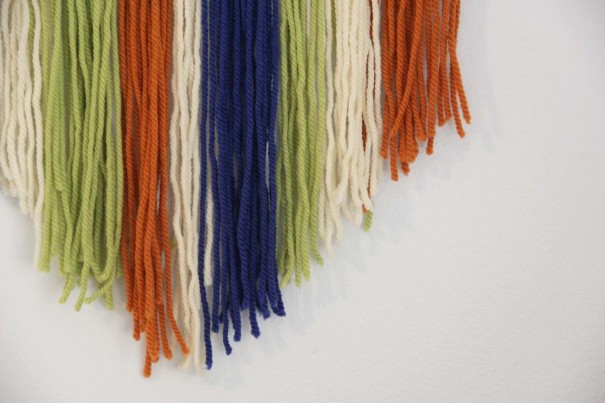 trimmed yarn wall art