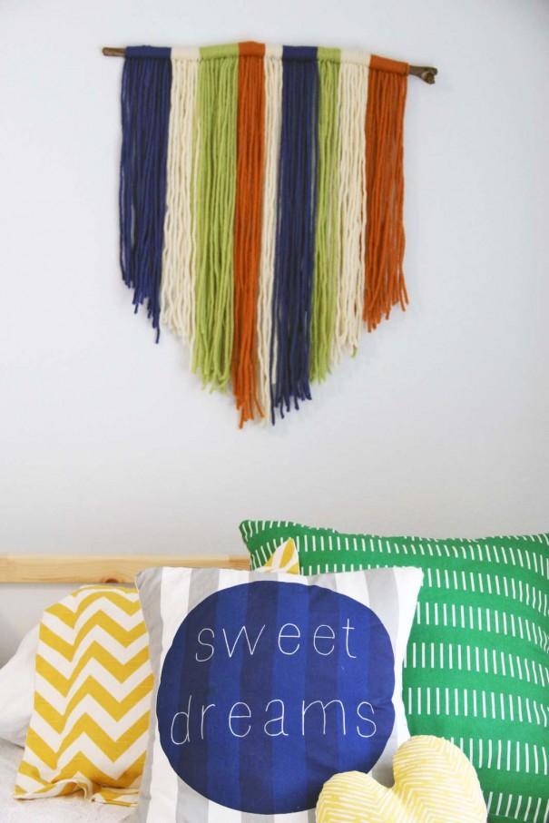 Beautiful wall art yarn