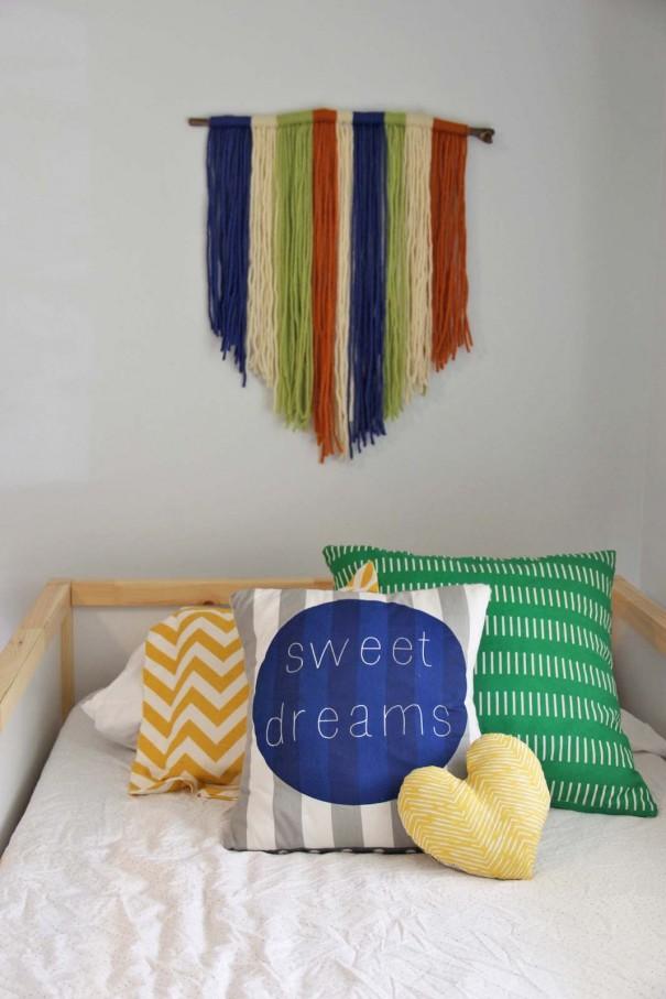 Yarn Wall Art diy yarn wall art - craft - little miss momma