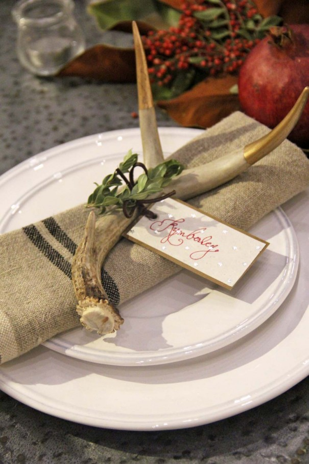 antler place setting