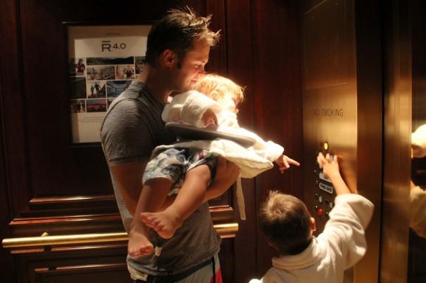 boys in elevator