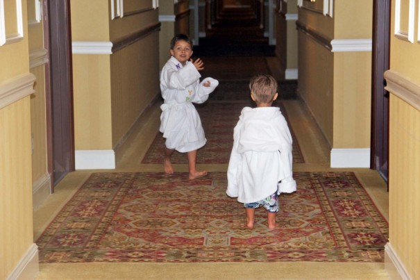 boys in robes