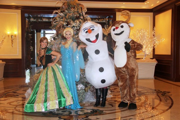 frozen character breakfast at the four seasons westlake