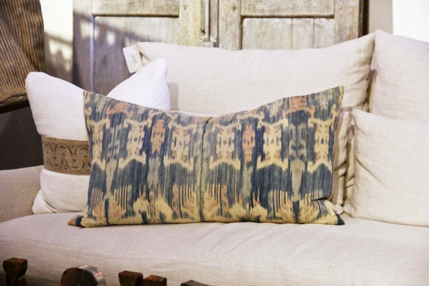 ikat vintage pillow