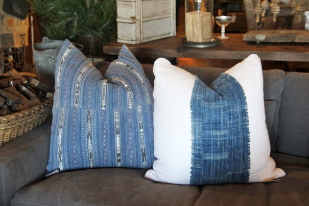 indigo vintage pillows