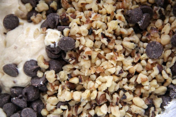 walnuts and choc chips
