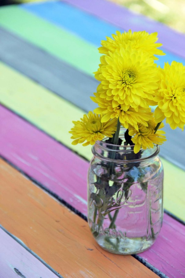 Colorful Picnic Table Makeover Craft Little Miss Momma
