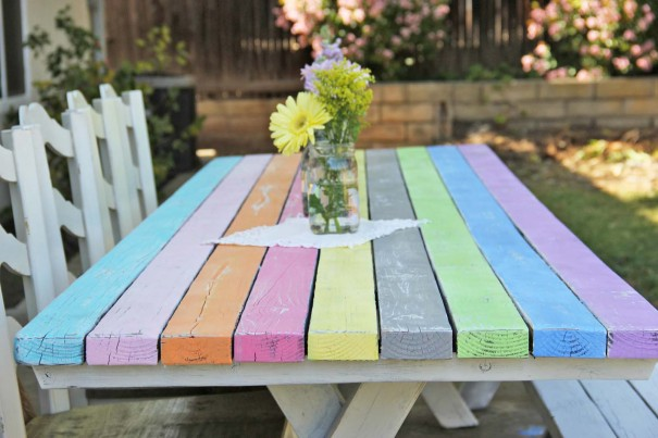 picnic table painted