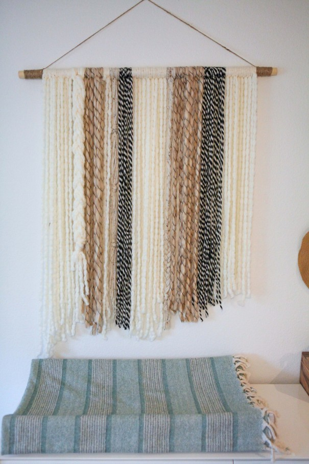 DIY Boho Yarn Wall Art - craft - Little Miss Momma