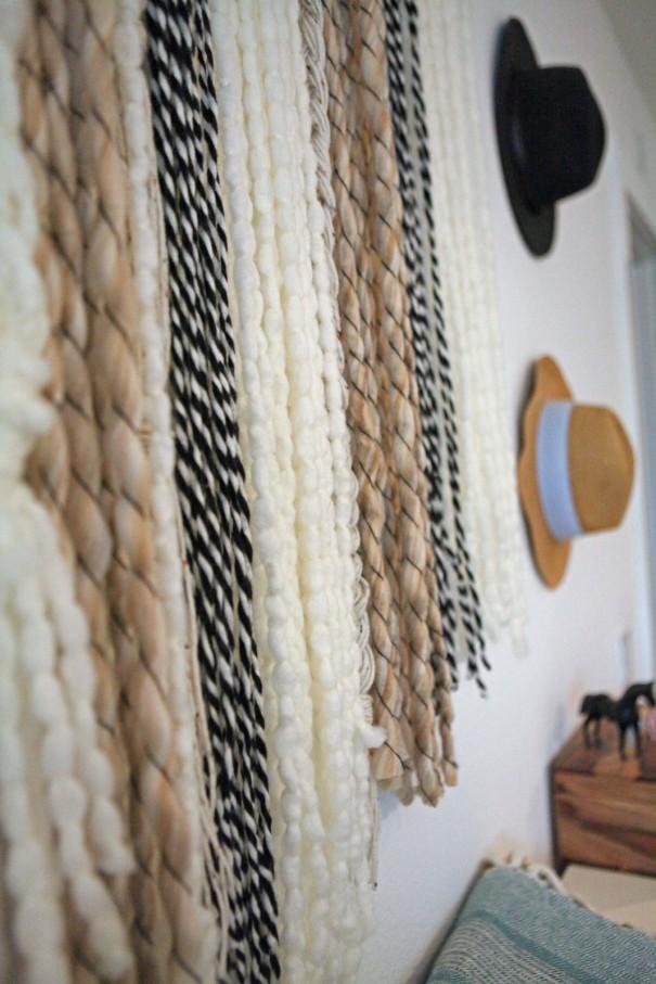 2-yarn wall art weaving