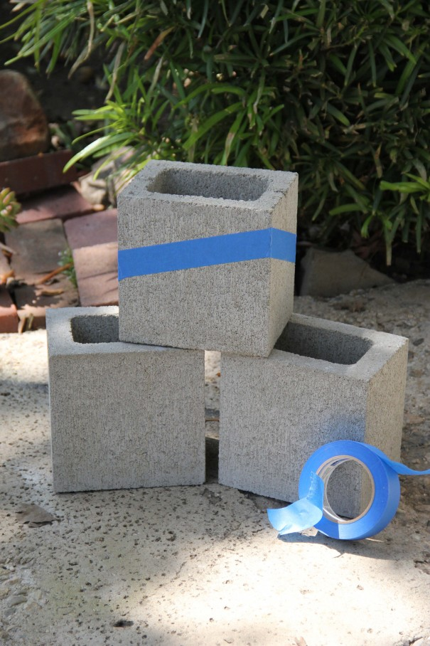 Relatively DIY Painted Cinder Block Planters BB97