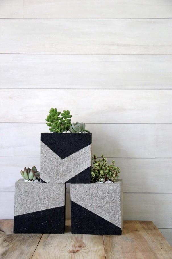 cinder block planters diy