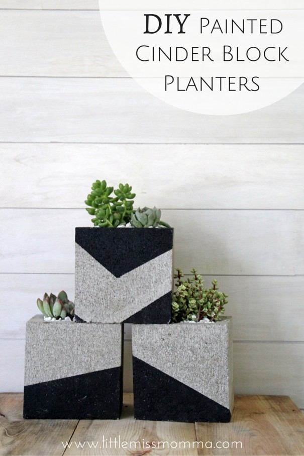 DIY Cinder BlockPlanters (1)