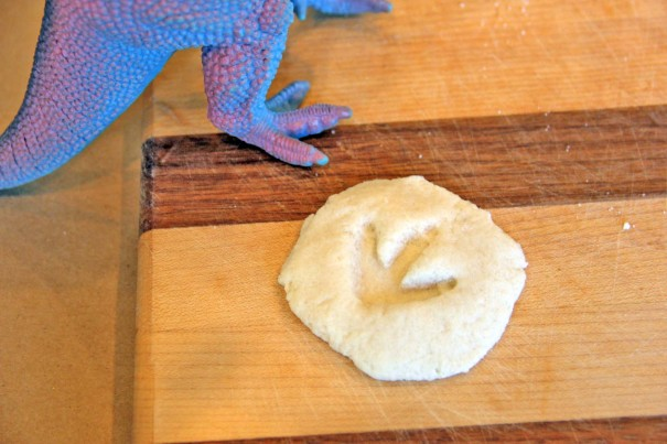 play dough fossils