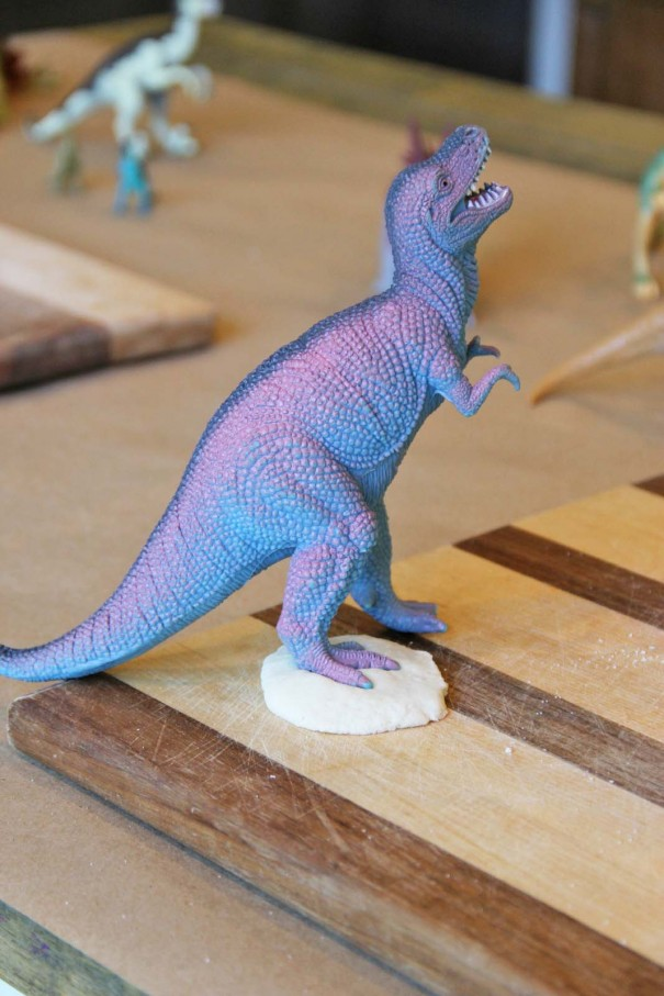 trex fossil play dough