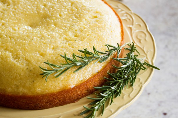 Meyer Lemon & Rosemary Olive Oil Cake