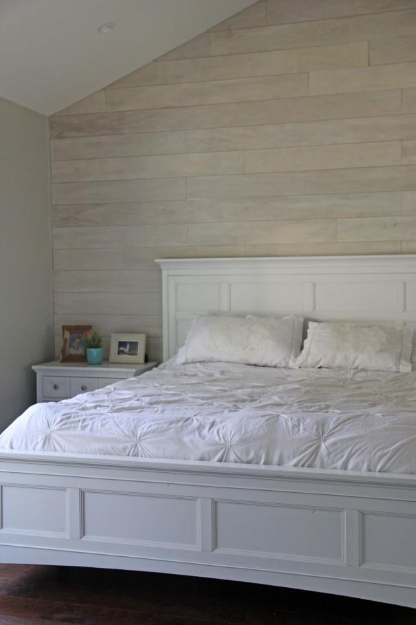 White Washed Plank Walls Diy