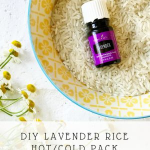 DIY Lavender Rice Hot/Cold Pack